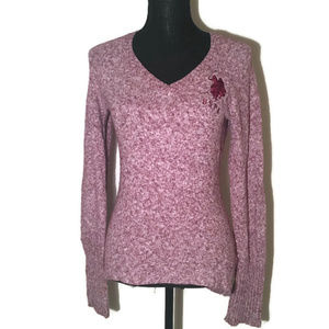 U.S. Polo Assn. Superior Quality Pink Logo Sweater